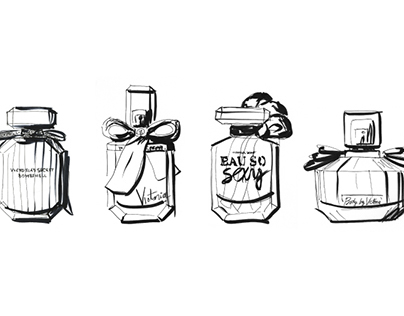 (画像元:https://www.behance.net/gallery/23689571/Victorias-Secret-bottle-sketches)