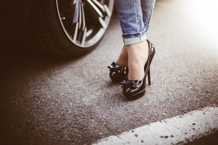 woman-in-black-high-heels-standing-next-to-a-car-2-picjumbo-com
