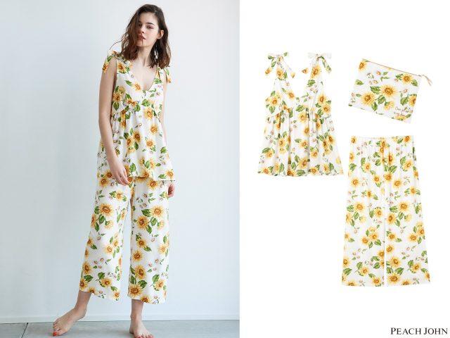 サマーキャミパジャマセット4,980円(+税) サイズ:S/M、M/L カラー:フラワー