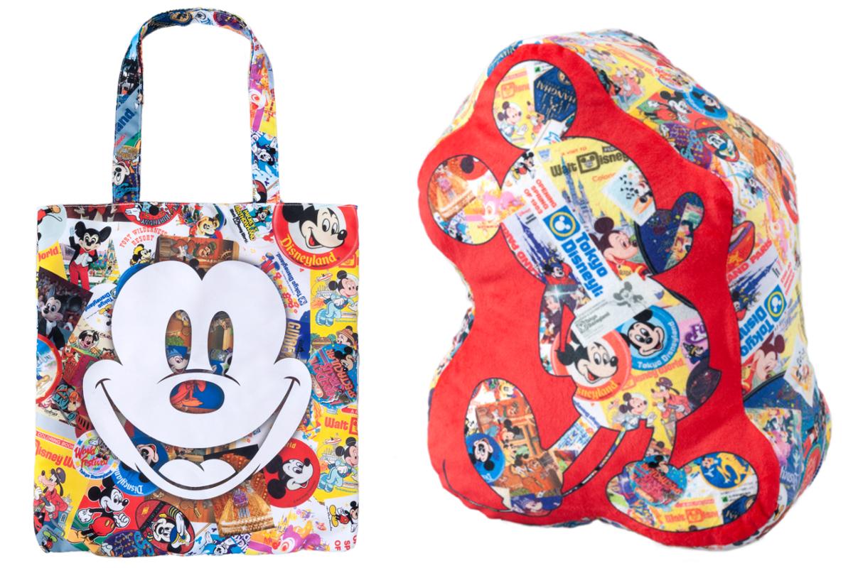 (左)トートバッグ、(右)クッション 各2,900円