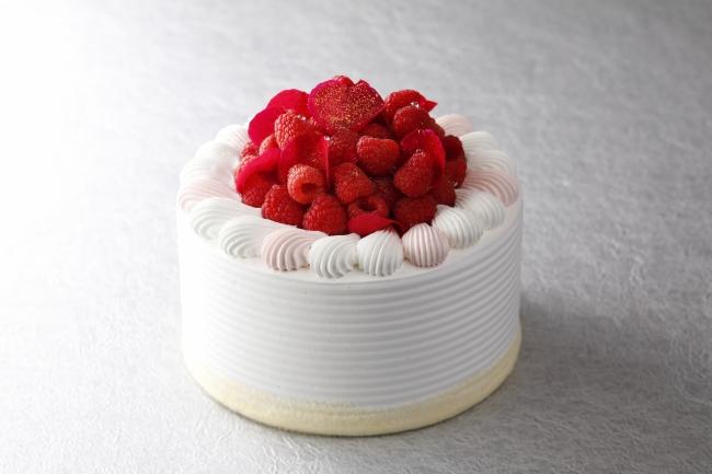 「エクストラスーパーイスパハンクリスマスショートケーキ」1ホール ¥21,000 (直径18cm) ※税別