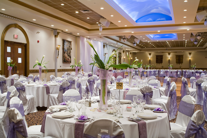 Wedding Reception Hall Table Setting